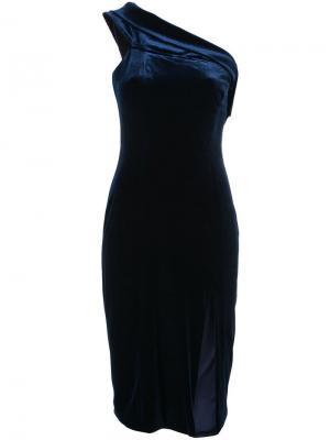 Коктейльное платье миди Jay Godfrey. Цвет: синий