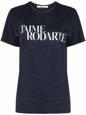 Футболка Jaime Rodarte. Цвет: синий