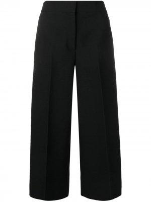Укороченные брюки с завышенной талией MSGM. Цвет: черный