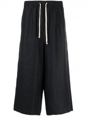 Укороченные брюки с кулиской Société Anonyme. Цвет: синий