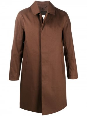 Однобортное пальто Dunkeld Mackintosh. Цвет: коричневый
