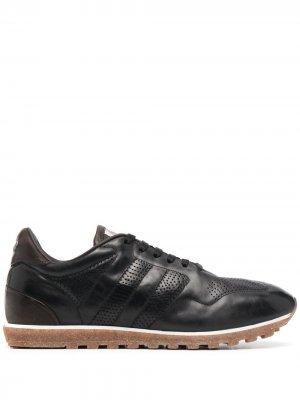 Кроссовки со вставками Alberto Fasciani. Цвет: черный