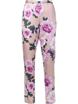 Пижамные брюки с контрастной отделкой Fleur Du Mal. Цвет: розовый