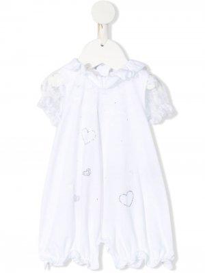 Платье-пижама с пайетками Miss Blumarine. Цвет: белый