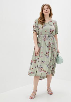 Платье Zizzi. Цвет: хаки