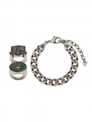 Массивный браслет-цепочка Dsquared2. Цвет: серебристый