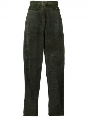 Зауженные брюки 1980-х годов Versace Pre-Owned. Цвет: зеленый