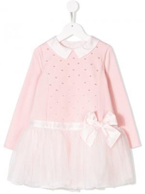 Платье с тюлевой юбкой Bimbalo. Цвет: розовый