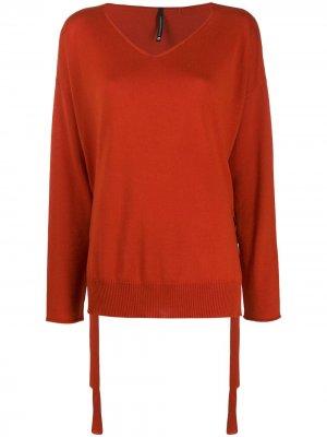 Джемпер с завязками сбоку Pierantoniogaspari. Цвет: оранжевый