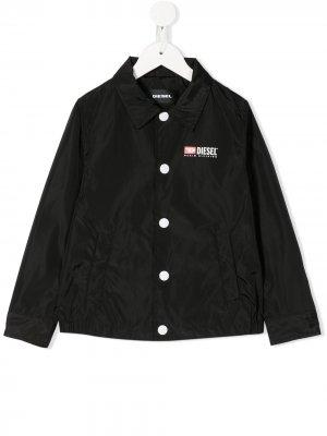Плащ-рубашка Diesel Kids. Цвет: черный