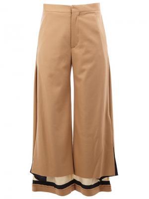 Высокие брюки с контрастными щиколатками Undercover. Цвет: нейтральные цвета