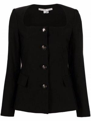 Пиджак Ria без воротника Veronica Beard. Цвет: черный