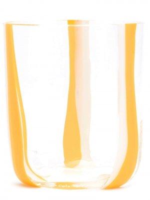 Стакан с полосками Carlo Moretti. Цвет: желтый