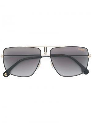Солнцезащитные очки-авиаторы Carrera. Цвет: черный