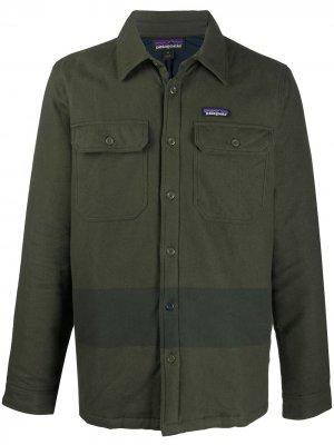Фланелевая куртка Fjord Patagonia. Цвет: зеленый