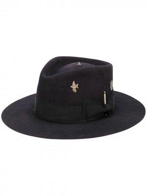 Фетровая шляпа-федора Cenote Nick Fouquet. Цвет: черный