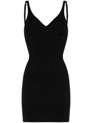 Моделирующее платье мини Wolford. Цвет: черный