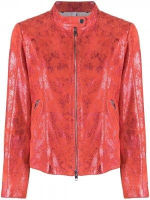 Куртка с блестками Suprema. Цвет: красный