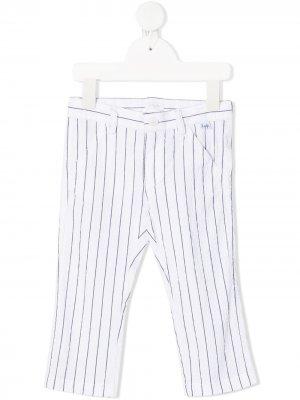 Узкие брюки в полоску Il Gufo. Цвет: белый