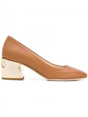 Туфли-лодочки с квадратным носком Lanvin. Цвет: нейтральные цвета