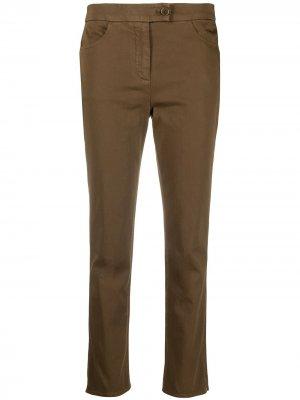 Зауженные брюки Aspesi. Цвет: коричневый