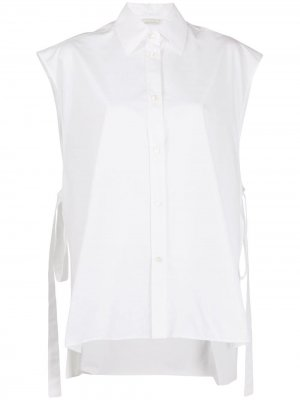 Рубашка без рукавов с завязками сбоку Nina Ricci. Цвет: белый