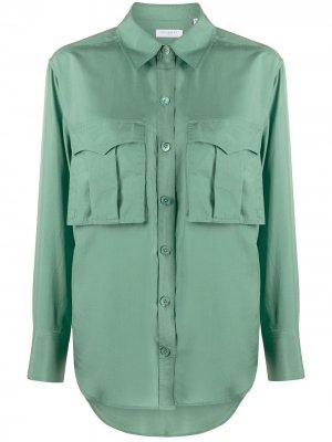 Рубашка оверсайз с нагрудным карманом Equipment. Цвет: зеленый