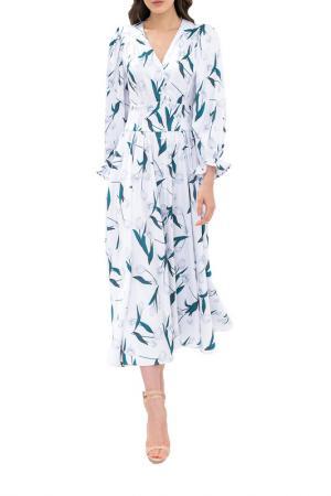 Платье-халат NOELE. Цвет: белый с тюльпанами