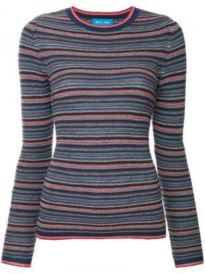 Трикотажный свитер в полоску Mih Jeans. Цвет: разноцветный