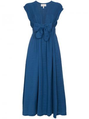 Платье с запахом и V-образным вырезом Katinka Mara Hoffman. Цвет: синий