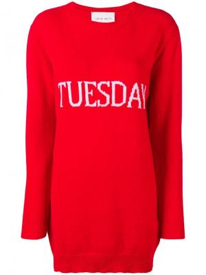 Tuesday sweater dress Alberta Ferretti. Цвет: красный