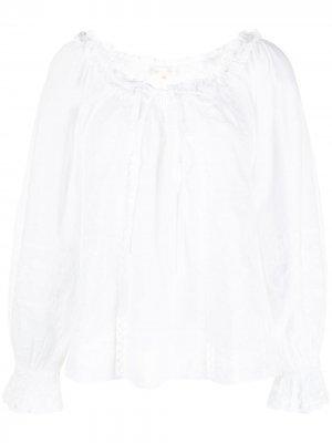 Блузка Odina с вышивкой в горох LoveShackFancy. Цвет: белый