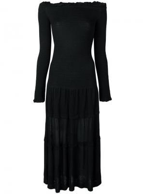 Платье миди с открытыми плечами Altuzarra. Цвет: черный
