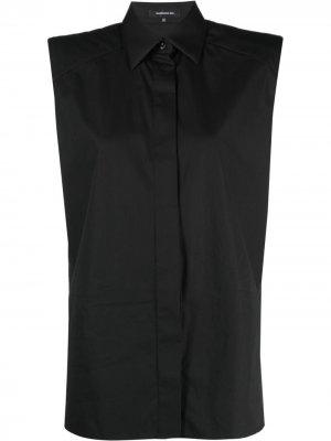 Рубашка с подплечниками Barbara Bui. Цвет: черный