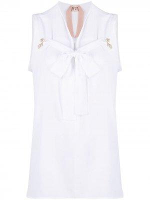 Блузка без рукавов с завязками Nº21. Цвет: серебристый