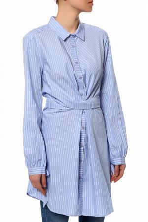 Рубашка Anna Rita N. Цвет: голубой