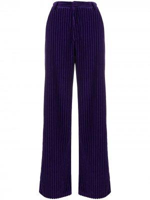 Вельветовые брюки широкого кроя AMI Paris. Цвет: фиолетовый