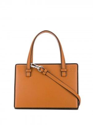 Маленькая сумка-тоут LOEWE. Цвет: коричневый