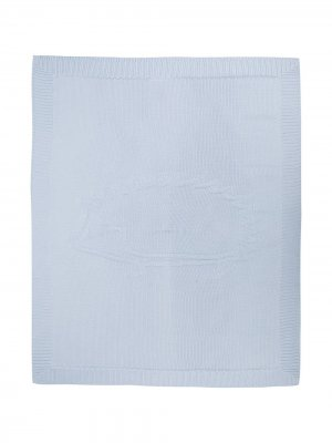 Вязаное одеяло Tartine Et Chocolat. Цвет: синий