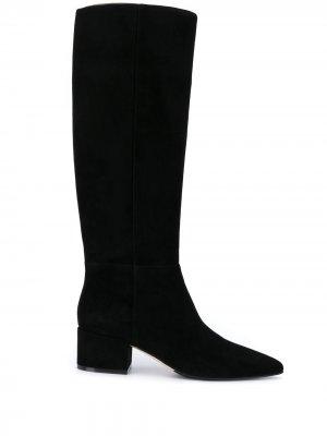 Сапоги с заостренным носком Sergio Rossi. Цвет: черный