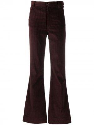 Вельветовые расклешенные брюки Marina Katharine Hamnett London. Цвет: красный