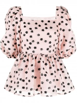 Расклешенная блузка Irene с пышными рукавами Stine Goya. Цвет: розовый