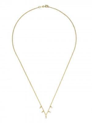 Золотое колье с бриллиантами Ileana Makri. Цвет: yellow