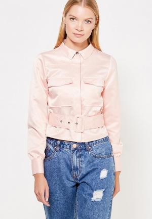 Куртка LOST INK. Цвет: розовый
