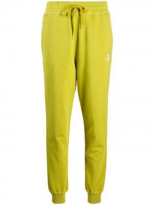 Спортивные брюки из органического хлопка с вышитым логотипом Vivienne Westwood Anglomania. Цвет: зеленый