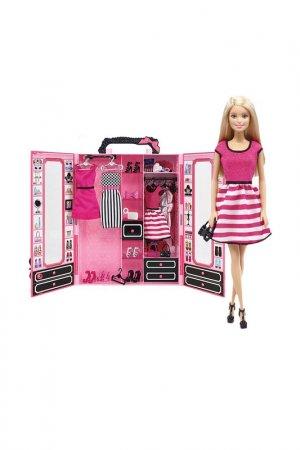 Барби с розовым шкафом Barbie. Цвет: бордовый