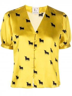 LAutre Chose блузка с принтом L'Autre. Цвет: желтый