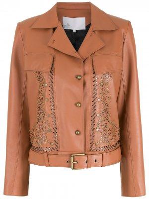 Куртка со вставками Nk. Цвет: коричневый