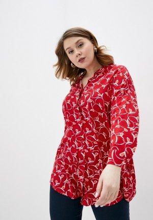 Рубашка Persona by Marina Rinaldi. Цвет: красный