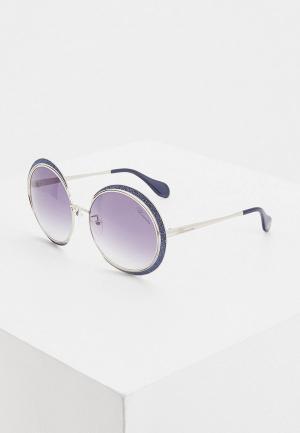 Очки солнцезащитные Blumarine. Цвет: серебряный